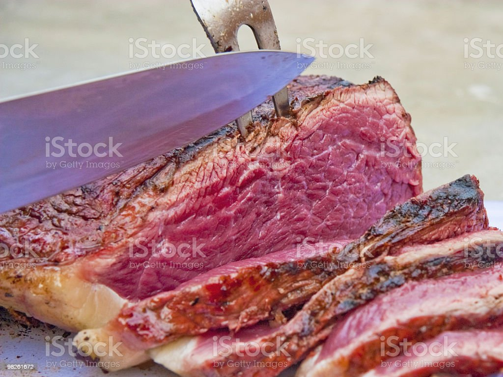 Carving Prime Beef royalty-free stock photo