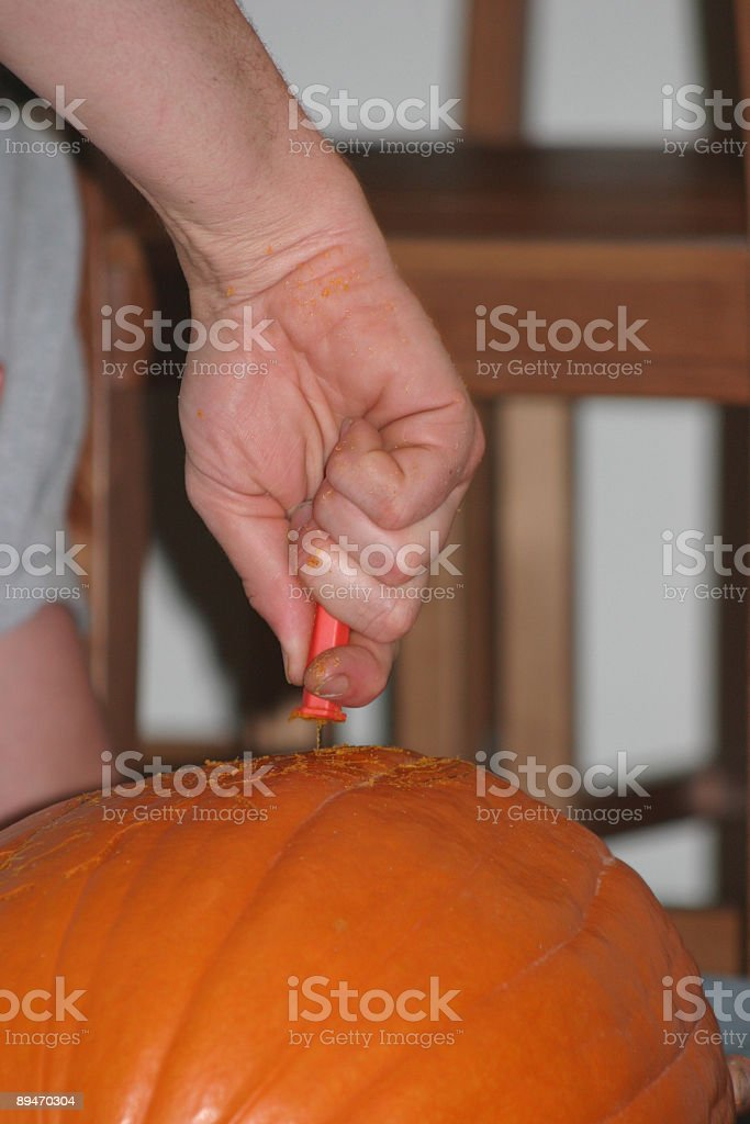 carving pumpkins royalty-free stock photo