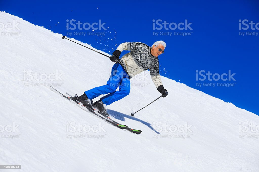 Carving Skier stock photo
