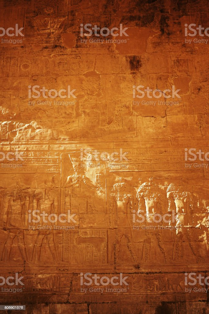 Carving wall in Temple stock photo