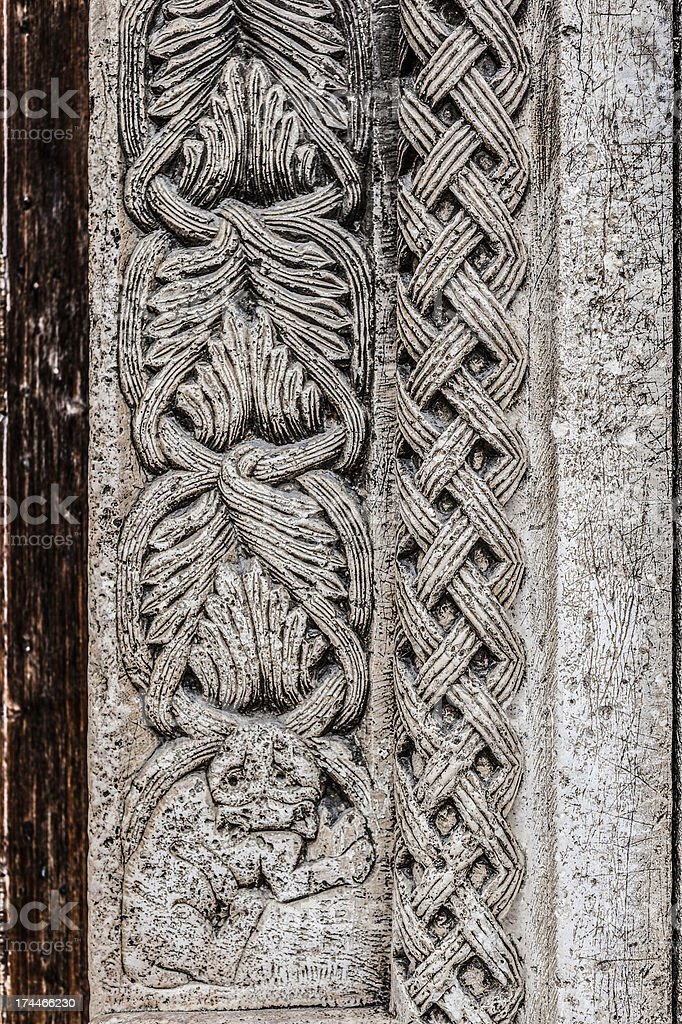 Carvings stock photo