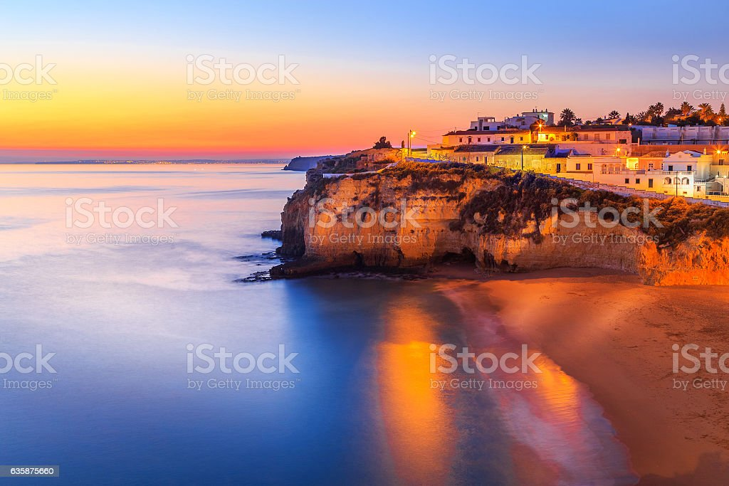 Carvoeiro in Algarve region, Portugal, Europe stock photo