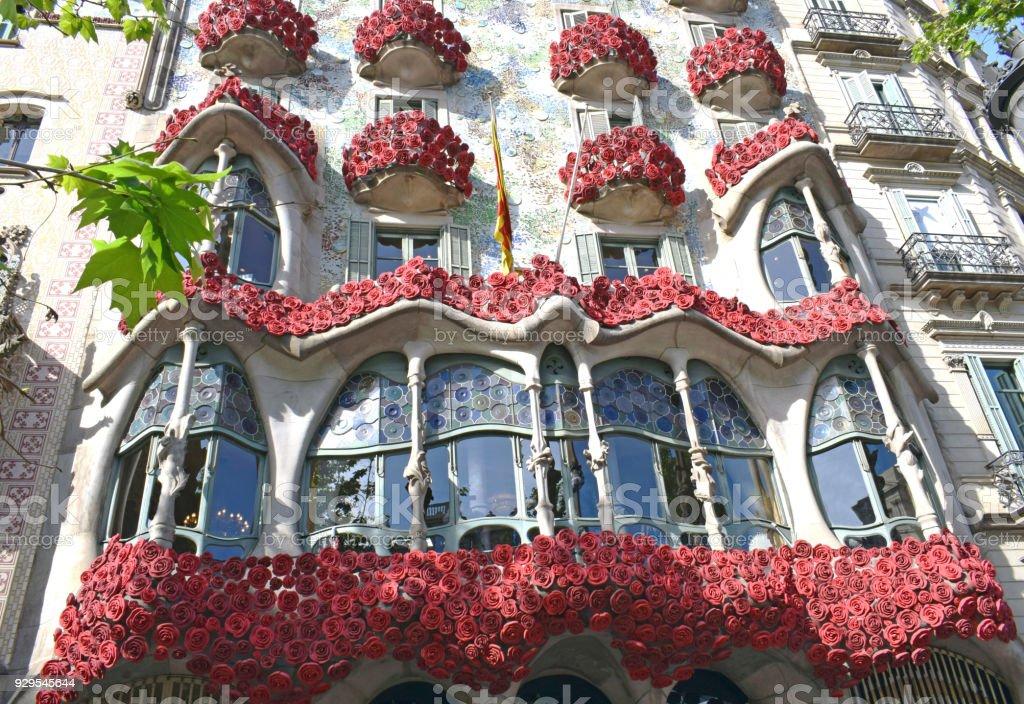 Casa Batlló arquitecto Antonio Gaudí en Barcelona stock photo