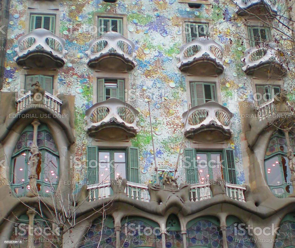 Casa Batlló stock photo