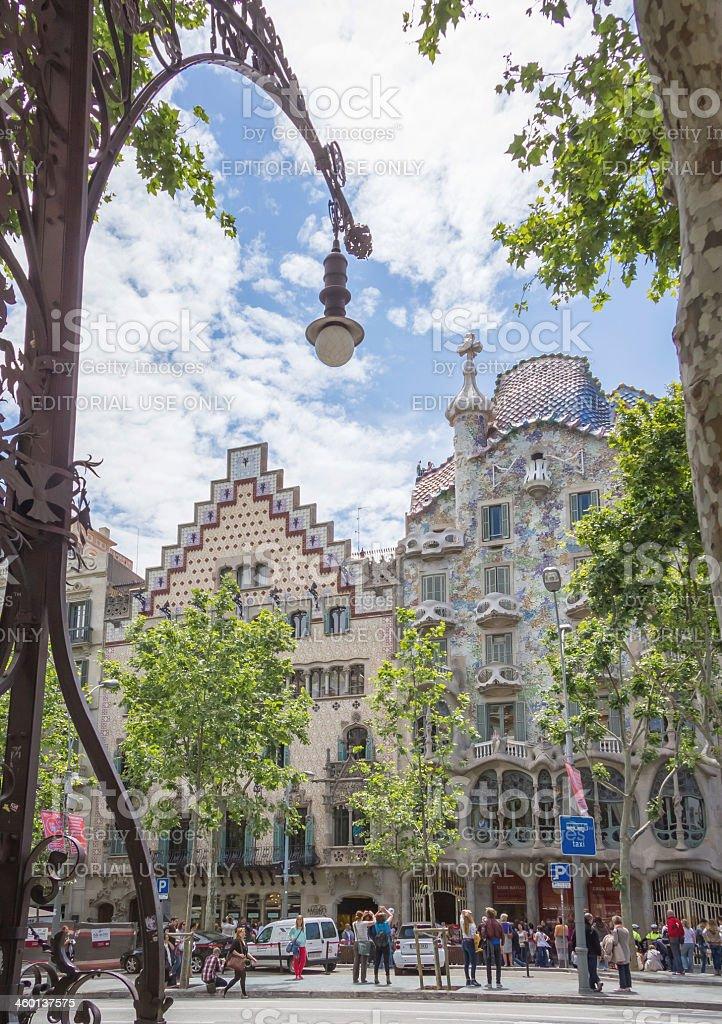 Casa Batllo and Amatller, in Barcelona, Spain stock photo