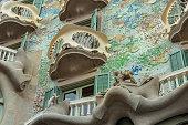 Barcelona, Spain, September 10 - 2019: Casa Batllo building in Barcelona, Spain.\nCasa Batlló made by the architect Antoni Gaudi, located in Passeig De Gracia, Barcelona, Catalonia, Spain.