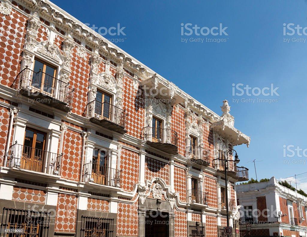 Casa De Alfenique, Puebla, Mexico stock photo
