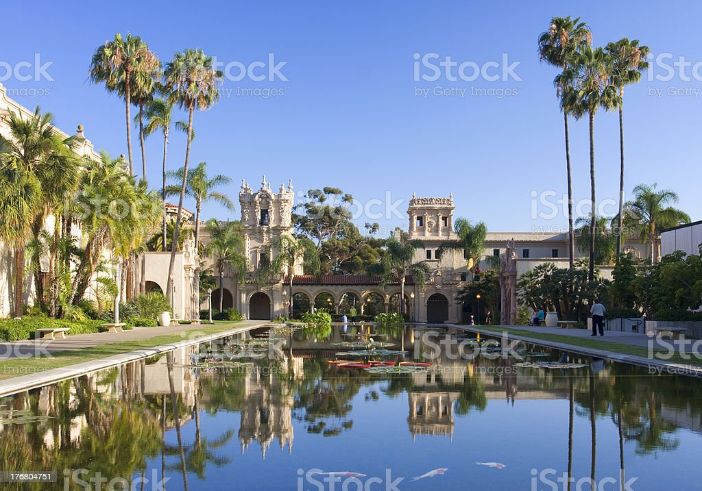 Casa De Balboa in the afternoon, San Diego royalty-free stock photo