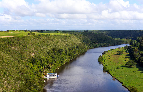 Casa de Campo river in Dominican Republic stock photo
