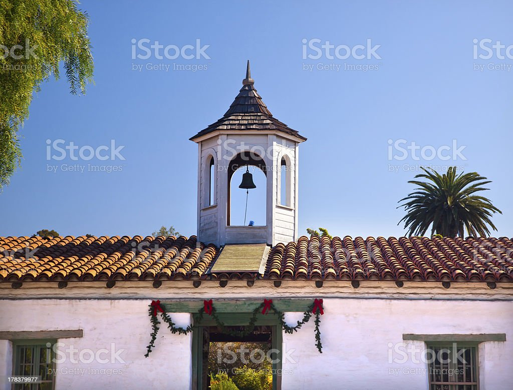 Casa de Estudillo Old San Diego Cupola California stock photo