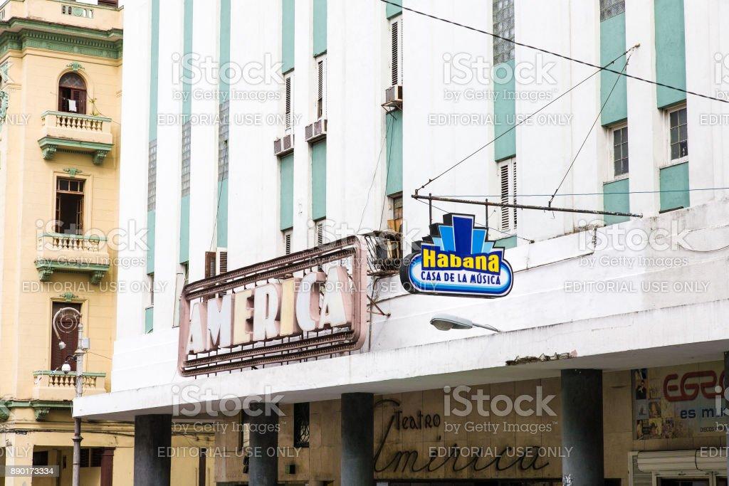Casa de la Musica, Havana stock photo
