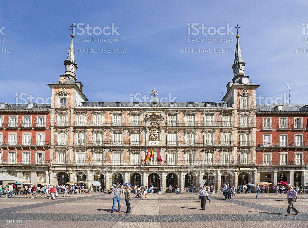 Casa de la Panadería on Plaza Mayor in Madrid, Spain stock photo