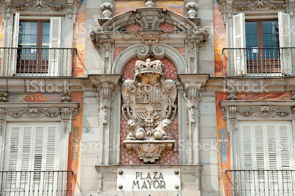 Casa de la Panaderia - Madrid - Spain stock photo