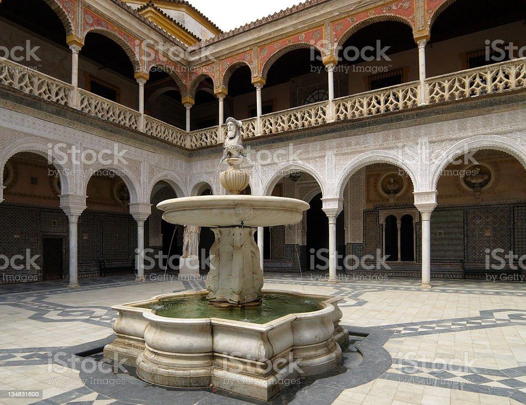 Casa de Pilatos, Seville royalty-free stock photo