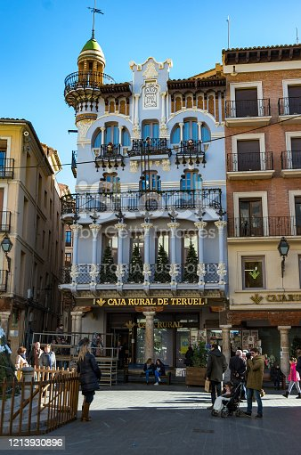 istock Casa El Torico building located in the main square, Plaza Carlos Castell, more commonly known as Plaza del Torico in the middle of town center 1213930896