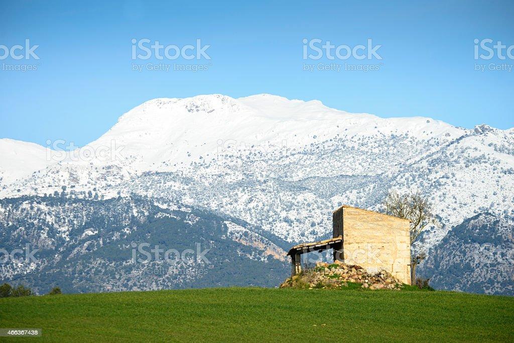Casa en sierra de tramontana, mallorca, islas baleares stock photo