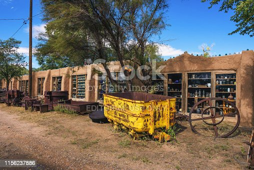 Cerrillos, New Mexico, USA - October 16, 2018 : Casa Grande Trading Post and Mining Museum located along the Turquoise Trail National Scenic Byway