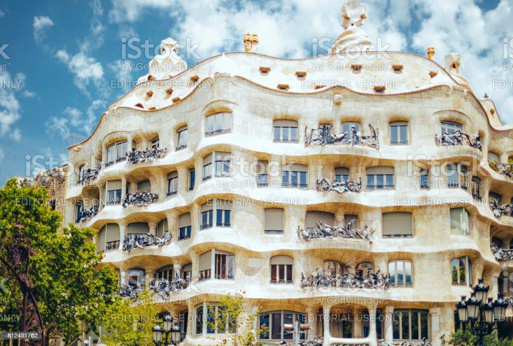 Casa Mila also known as La Pedrera stock photo