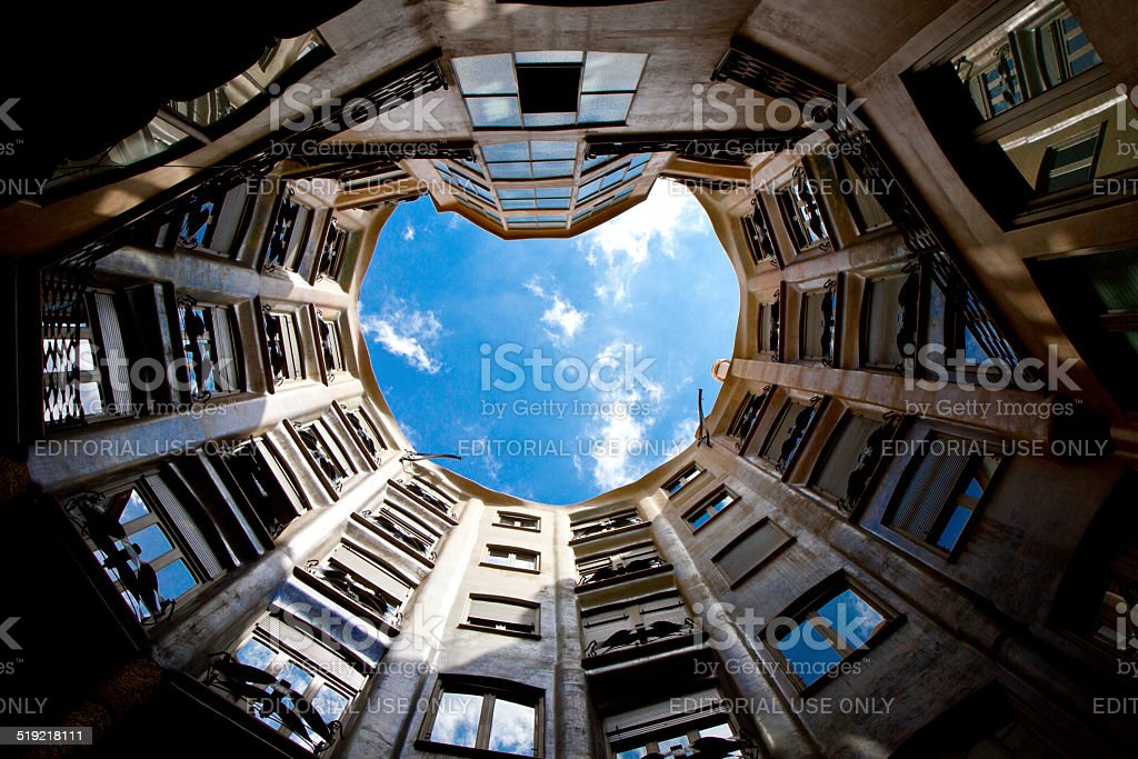 Casa Mila, Barcelona stock photo