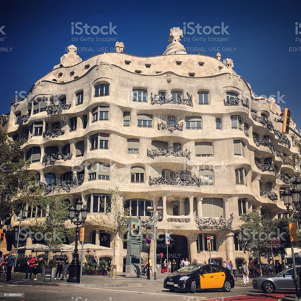 Casa Mila, Barcelona stock photo