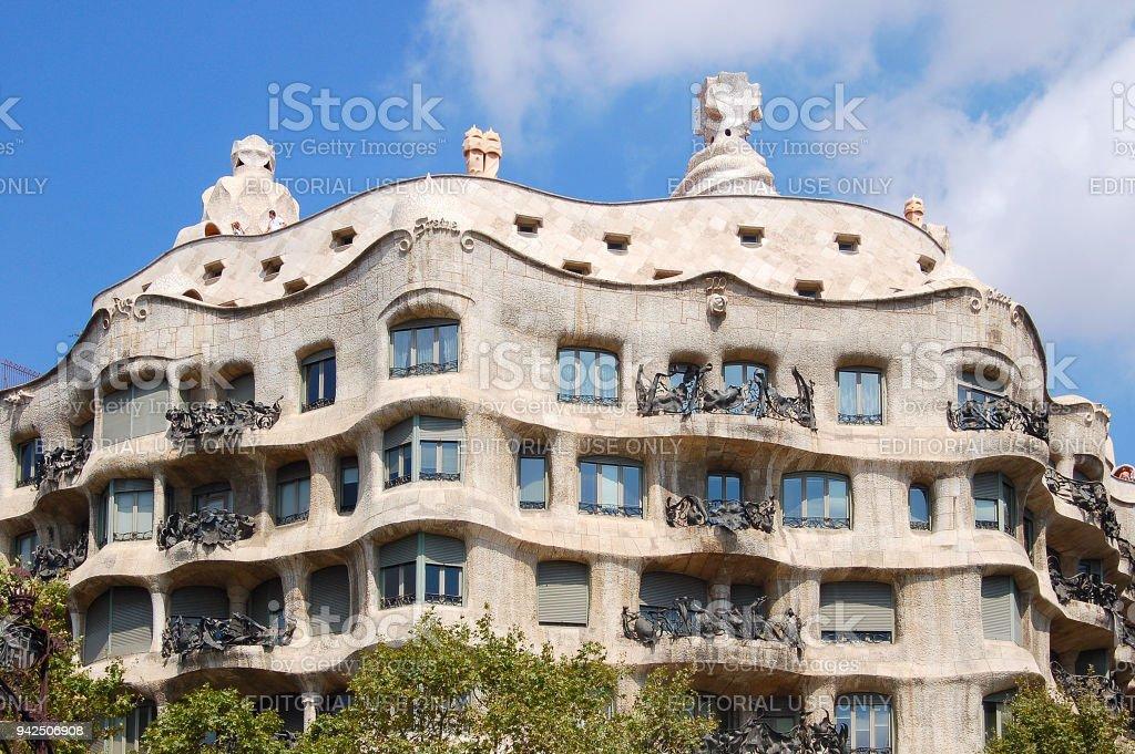 Casa Mila - Barcelona stock photo