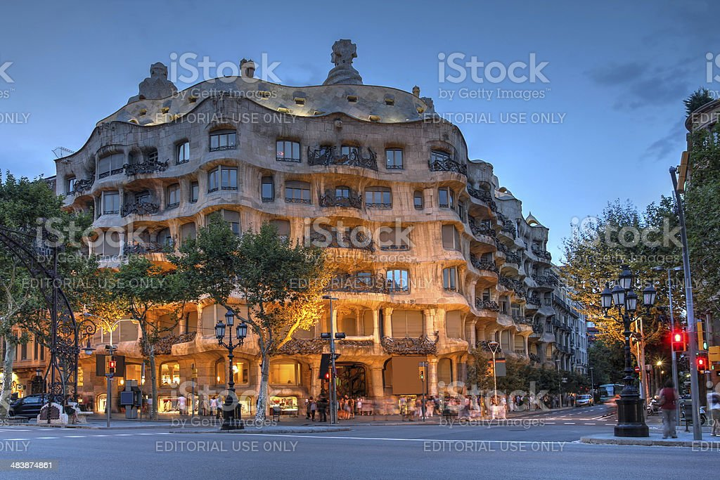 Casa Mila, Barcelona, Spain stock photo