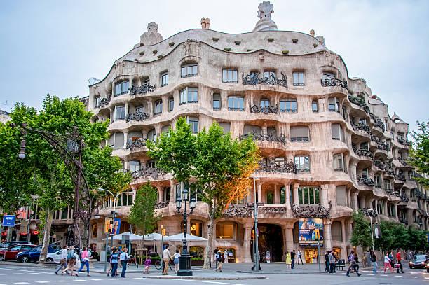 Casa Mila in Barcelona, Spain Barcelona, Spain - June 8, 2013: Residential house