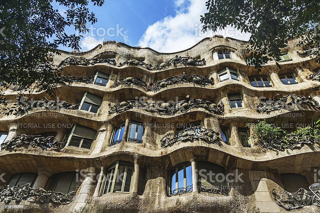 Casa Mila La Pedrera building stock photo