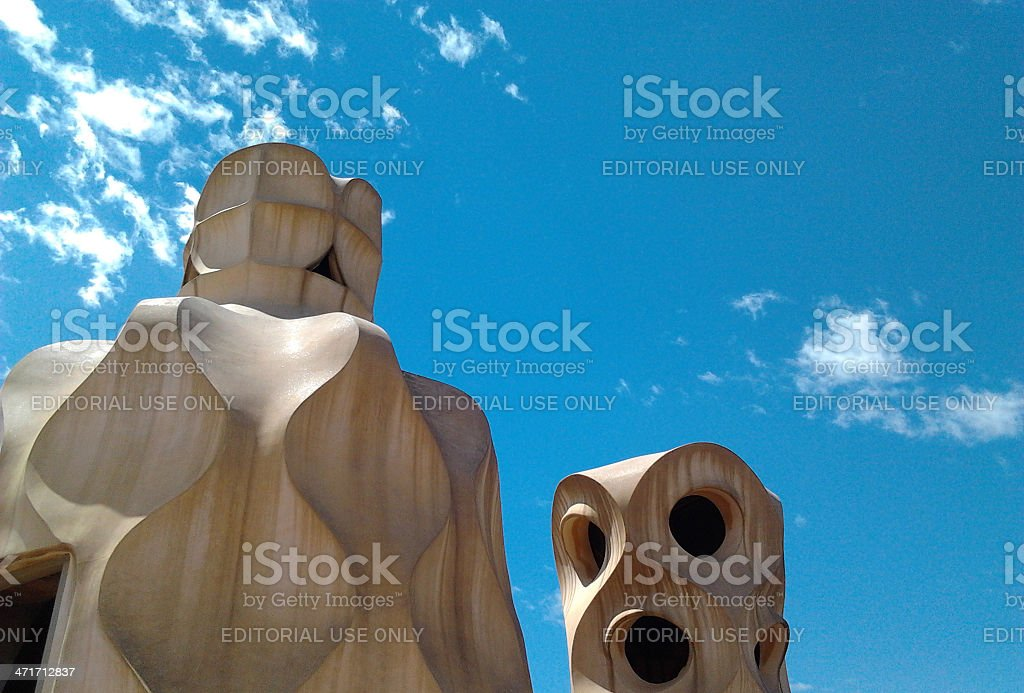 Casa Mila or La Pedrera Barcelona. MobileStock royalty-free stock photo