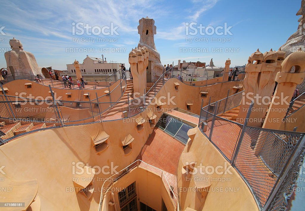 Casa Mila or La Pedrera stock photo