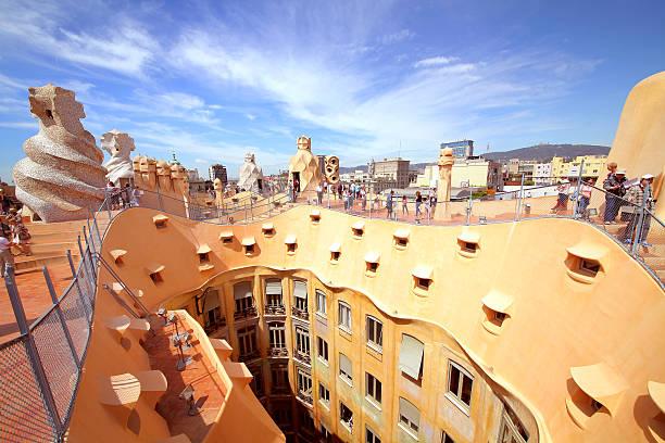 Casa Mila or La Pedrera stock photo