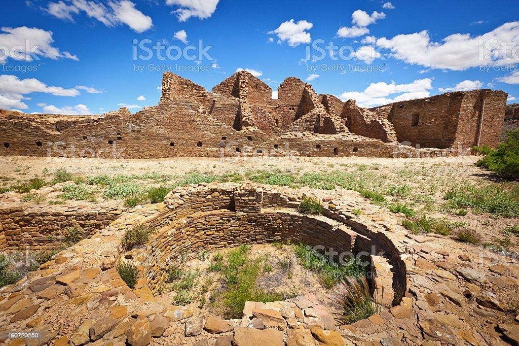 Casa Rinconada in Chaco Canyon National Historical Park, New Mexico stock photo