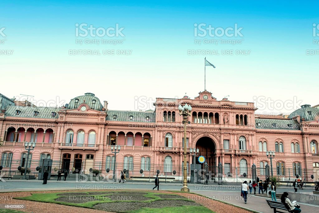 Casa Rosada, Buenos Aires, Argentina. stock photo