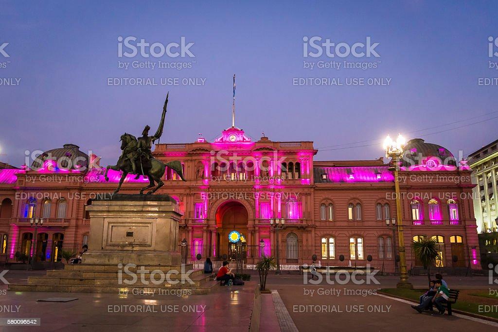 Casa Rosada, Casa de Gobierno, Government House, Buenos Aires, Argentina stock photo