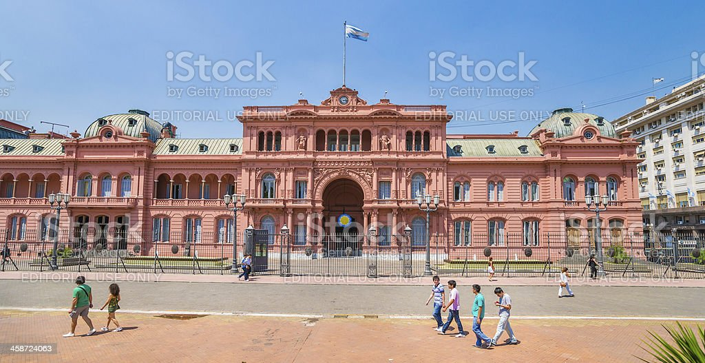 Casa Rosada on Plaza de Mayo in Buenos Aires, Argentina stock photo