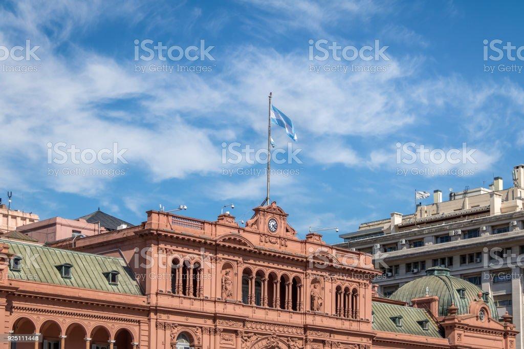 Casa Rosada (Pink House) Presidential Palace - Buenos Aires, Argentina stock photo