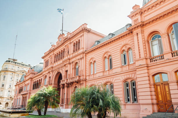 casa rosada (pink house), presidential  palace in buenos aires, argentina - argentina stock pictures, royalty-free photos & images