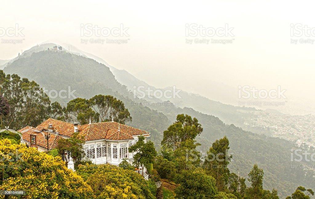 Casa San Isidro, Monserrate Bogota, Colombia stock photo