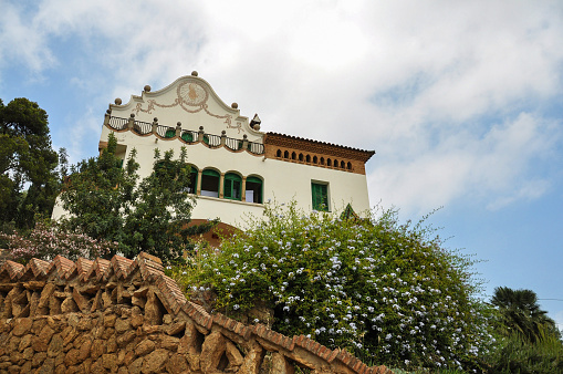 Casa Trias in park Guell in Barcelona