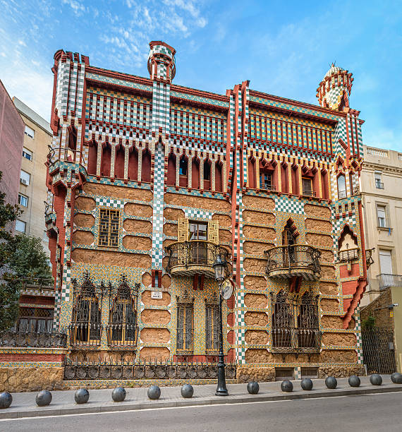 Casa Vicens in Barcelona stock photo