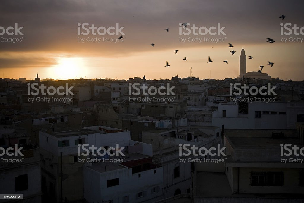 Casablanca at sunset royalty-free stock photo