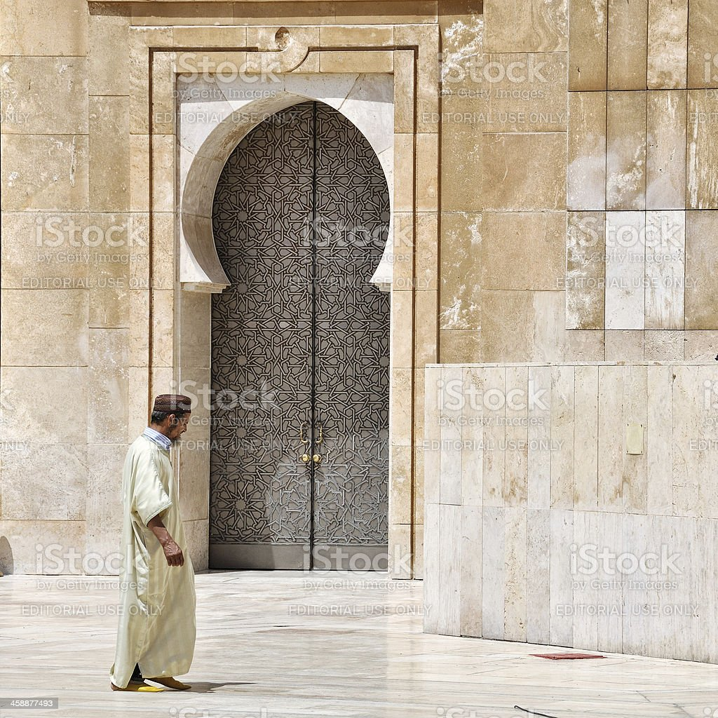 Casablanca King Hassan II Mosque royalty-free stock photo