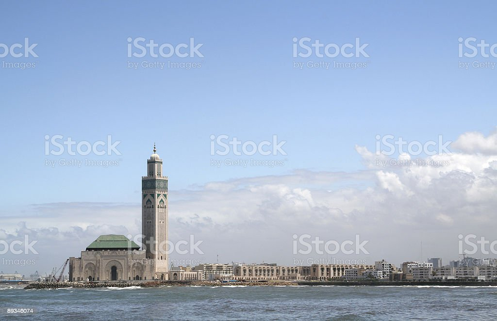 Casablanca King Hassan II Mosque royalty-free stock photo
