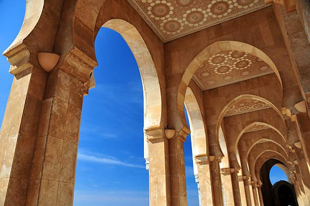 Casablanca, Marruecos: La mezquita de Hassan II-Galería - foto de stock