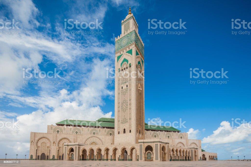 Casablanca Morocco Hassan II Mosque stock photo