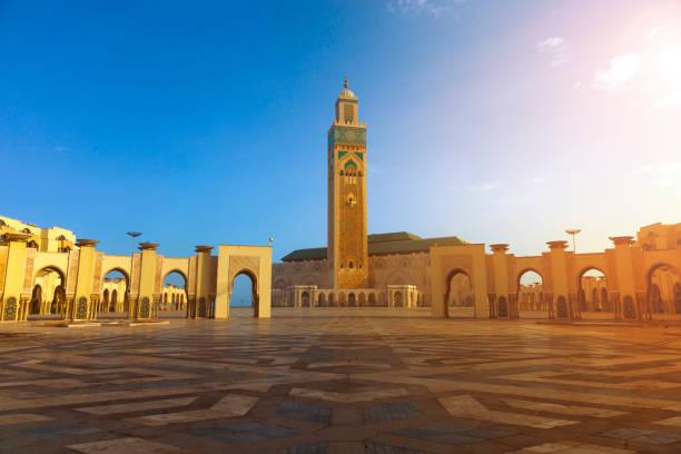 Casablanca - Morocco, Mosque Hassan II in Casablanca - Morocco, minaret stock pictures, royalty-free photos & images