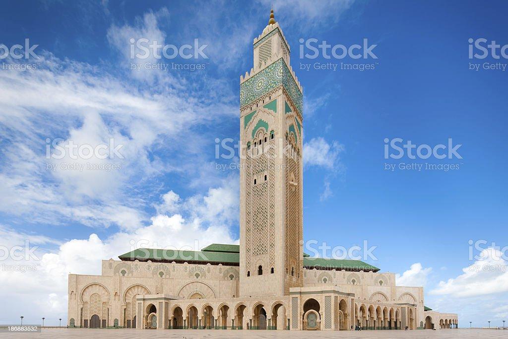 Casablanca Mosque Hassan Morocco stock photo