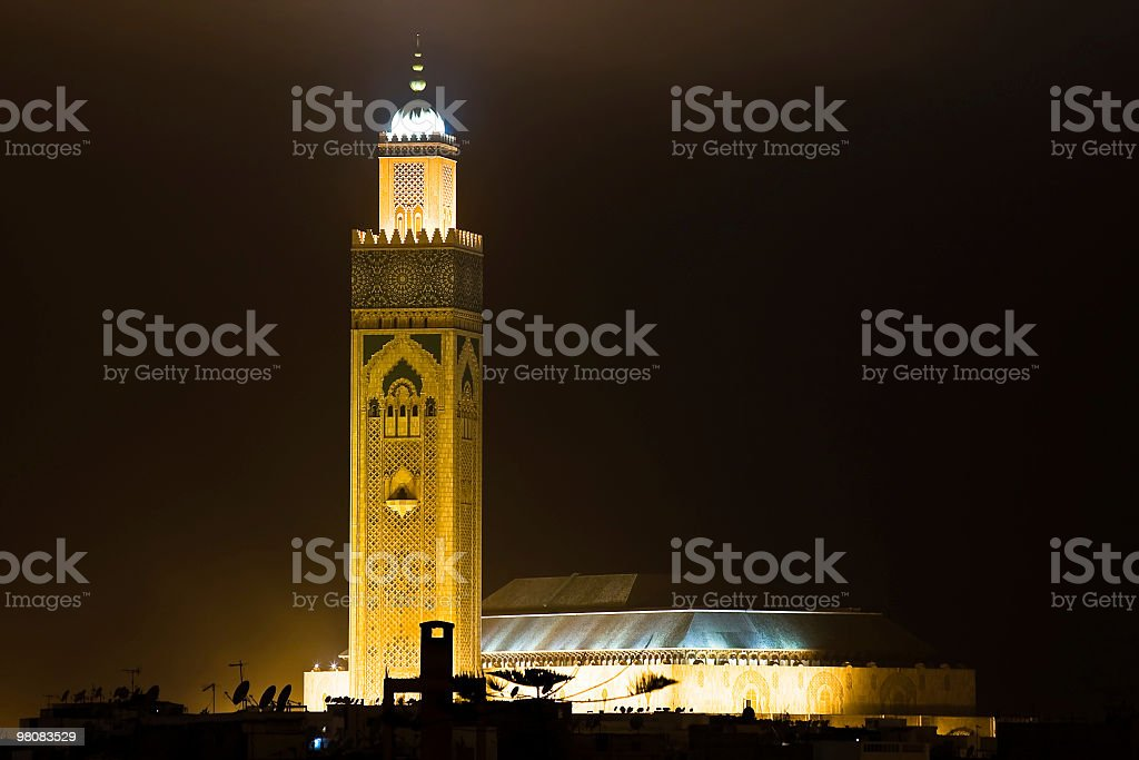 Casablanca, moschea foto stock royalty-free
