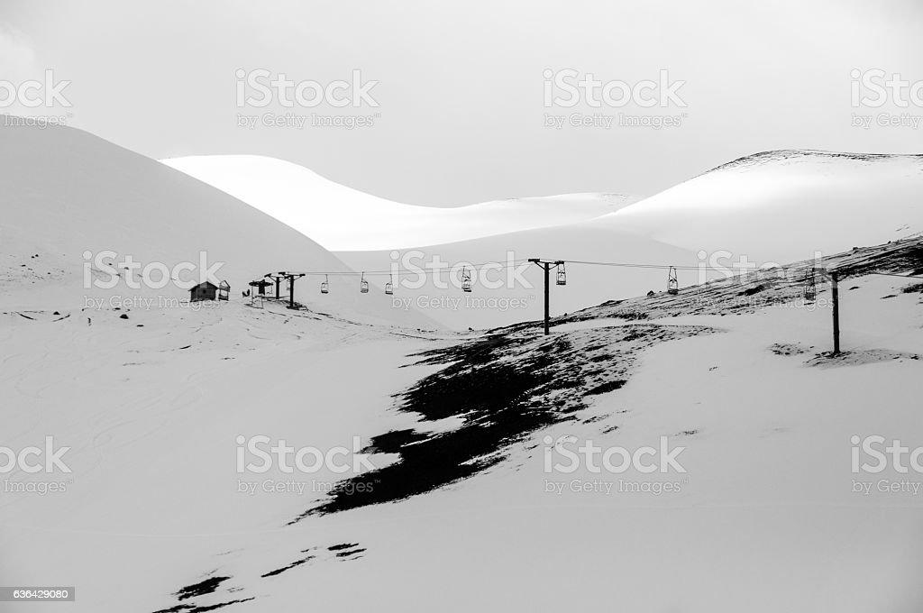 Casablanca ski resort in Chile stock photo