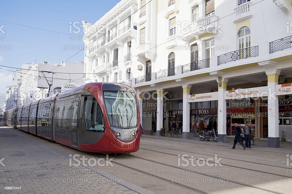 Casablanca Tram royalty-free stock photo